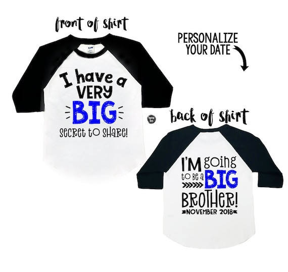 Personalised I/'m The Little Brother Boys T-Shirt 1-14 Yrs Funny Custom Present