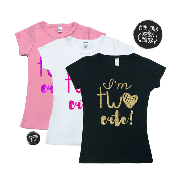 Im TWO Cute Shirt Two 2nd Birthday SHIRT