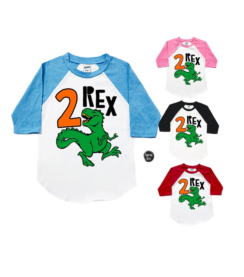 TWO Rex Shirt Dinosaur Birthday Shirts 2 REX Unisex