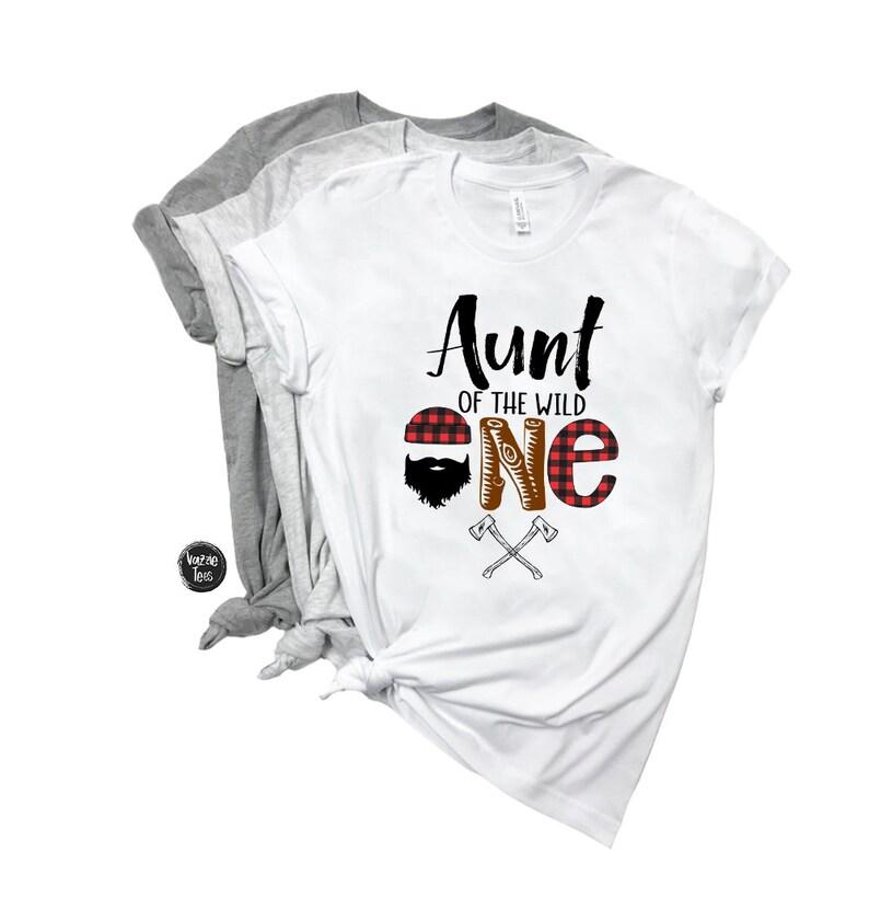 2de67005b Aunt of the Wild One Birthday Shirts Birthday Shirts for | Etsy