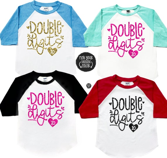 Double Digits Birthday Shirt 10 Year Old Girls