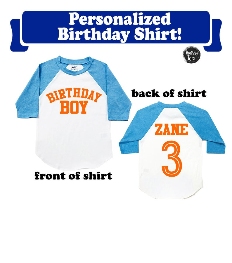Birthday Boy Shirt Personalized Boys