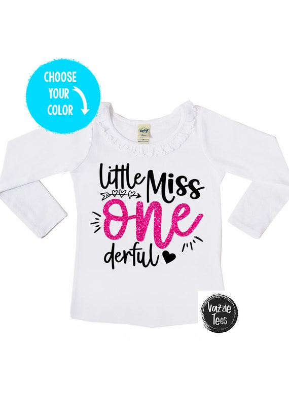 Little Miss ONEderful 1st Birthday Shirt Ruffle Collar