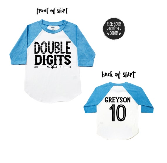 Double Digits Tee Personalized Shirt 10 Year