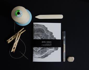 Screenprinting handmade notebook - linoleum
