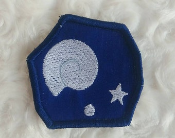 Animal Crossing inspired Fossil Patch, Video Game Embroidered Patch, ACNL Iron-on Patch