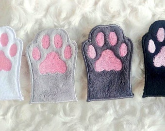 Cat Paw Soft Patch, Toe Beans Embroidered Patch, Cute Kitty Iron-on Patch, Stocking Stuffer