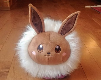 Eevee fan made plush, pokemon stacking plush, eeveelution pokeroll, cute soft video game pillow plush