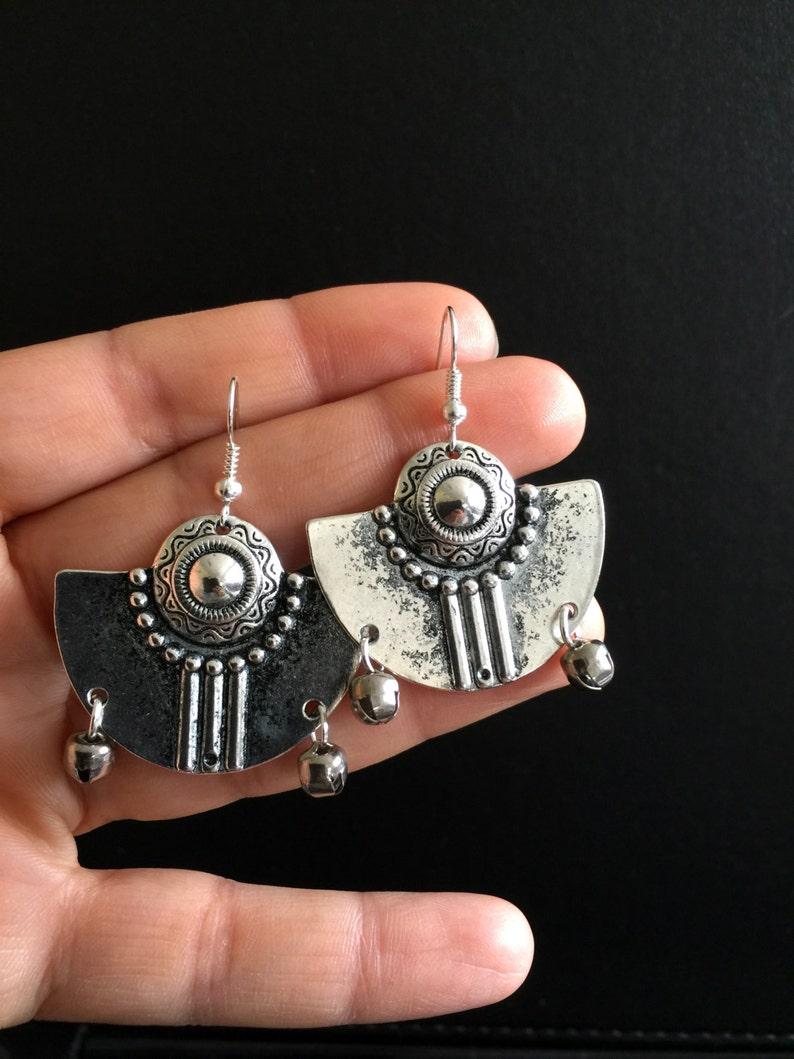 African earrings Aztec earrings Boho earrings Hypoallergenic surgical steel hooks Ethnic earrings Tribal earrings Bohemian earrings