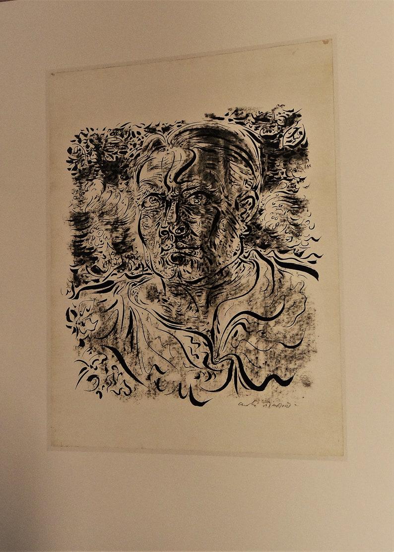 c16546480bd André Masson autoportrait surréaliste gravure noir et blanc