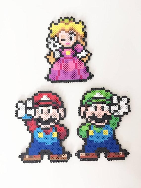 Mario Luigi Et Princesse Peach Perler Bead