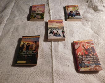 Lot of 5 Vintage Love Romance Paperbacks Boooks-LARGE PRINT