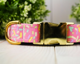 Sprinkles adjustable Dog Collar w/ Metal Buckle