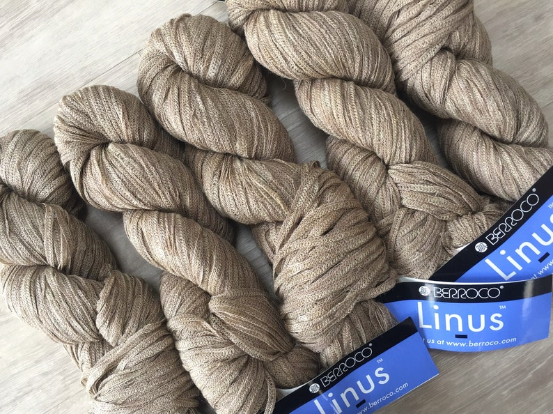 Berroco LINUS 6844 Owl Brown - 7 50 + Combined Shipping, Free Linus  Patterns  159yds Acrylic Linen Rayon Blend Yarn  Lovely! MSRP 10 50