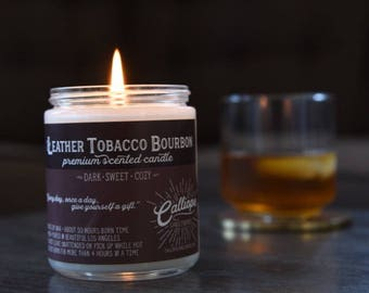 Leather Tobacco Bourbon Candle
