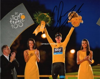 Limited Edition Chris Froome Cycling Signed Photo + Cert PRINTED AUTOGRAPH