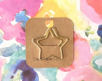 Gold Star Paper Clip