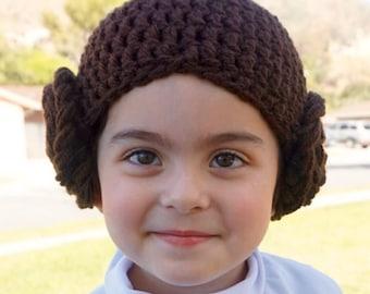 Princess Leia beanie  Hat - crocheted Star Wars character hat a2a82428b81