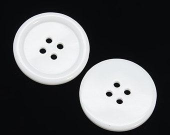 6 Pcs 0.63~0.98 Inches Fashion BlackBrownWhiteKhaki 4 Holes Resin Hole Buttons for Coats Sweaters