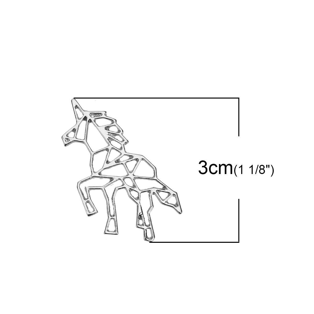 5 origami pendentif, Licorne breloque pendentif, origami 4222, 907 75bfa8