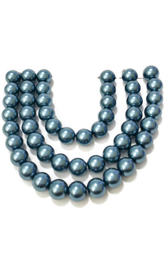 Turquoise 100 beads 6mm Glass faux Pearls jewellery making