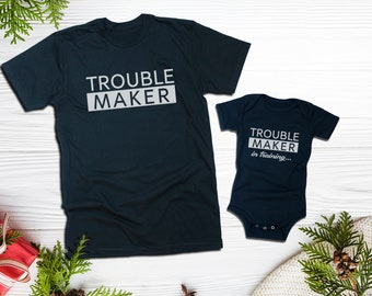 479ef93d7 Trouble Maker and Trouble Maker in training / Father Son Shirt/Siblings  Matching T-Shirts/Big Brother Little Brother Shirts/Matching Cousins