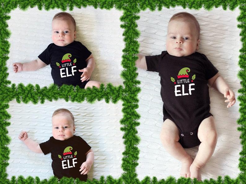 Little Elf  Baby Onesie Short Sleeve  Toddler Tee  image 0