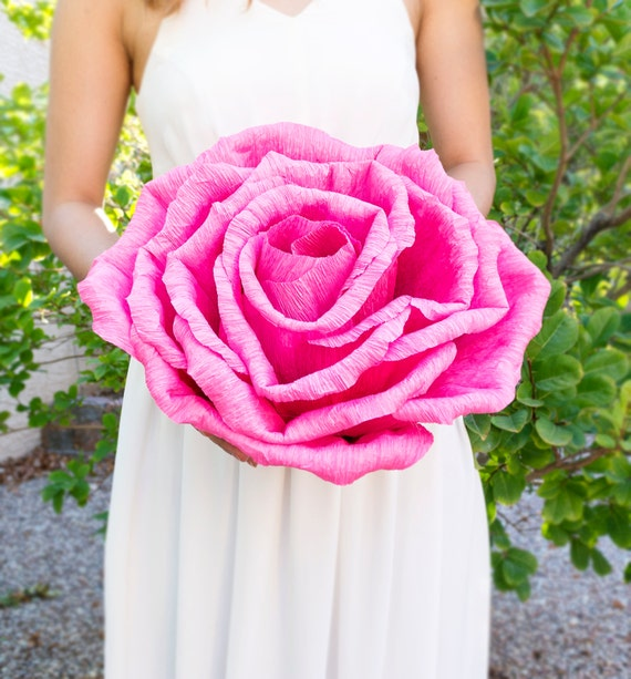 Handmade Giant Crepe Paper Flower Without Stem Wedding Etsy