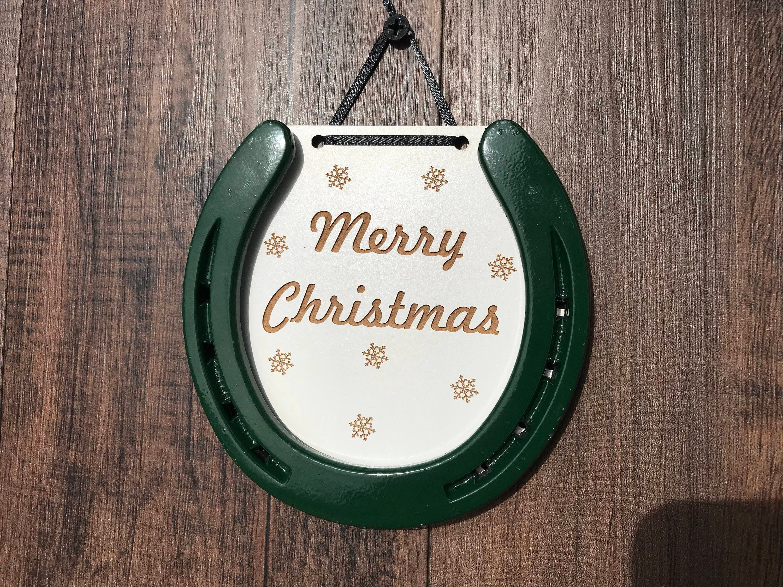 Christmas Horseshoe Art.Horseshoe Art Bansuan