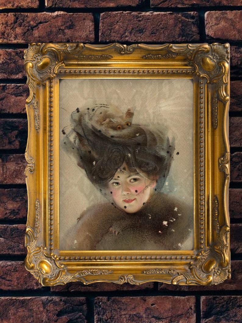 Printable Digital Art Gorgon in a Mongoose Fur Coat  Art image 0