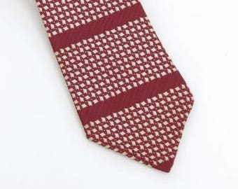 1950's vintage Smoothie Imperial red and white neck tie