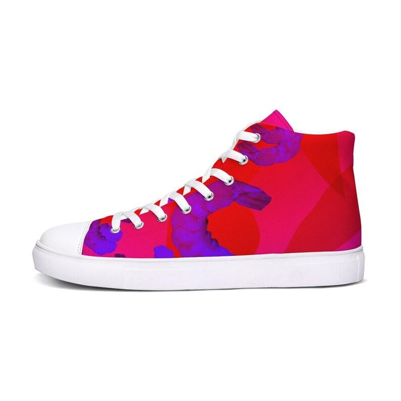 PRAWNOGRAPHY Hightop Sneakers / Shrimp Print / Patterned WtUzTMLz