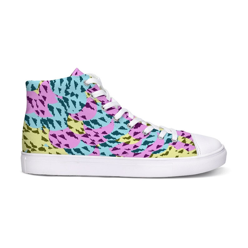 Neon Rave Hightop Sneakers / Sneakers a motivo / Scarpe Trippy VyjGpZ1Y