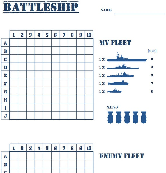photograph about Battleship Printable known as PRINTABLE-Battleship-Who will rule the seas?