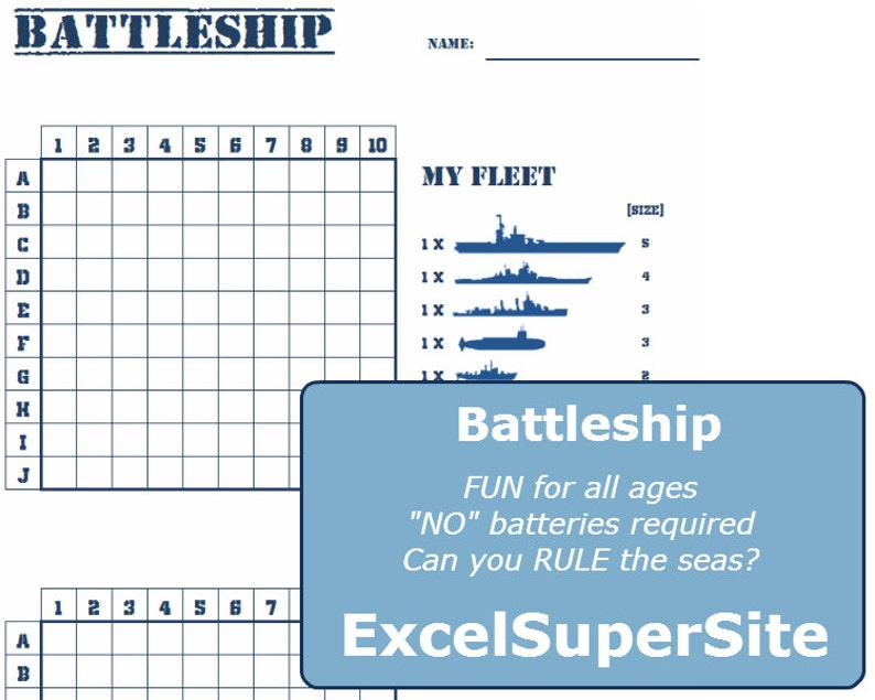photograph about Battleship Printable named PRINTABLE-Battleship-Who will rule the seas?