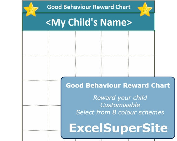 Good Behaviour Chart Template CUSTOMISABLE Personalise Your