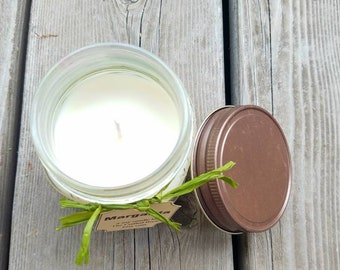 Margarita Scented Soy Candle - Dye free in 8 oz. Mason Jar with Rustic lid