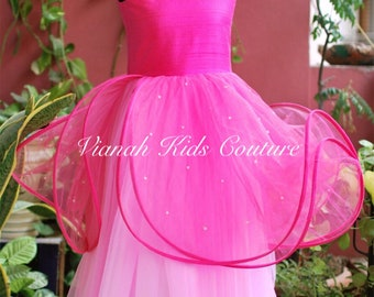 Pretty pink layered gown.