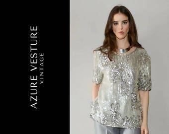 8fd56aa77936d Vintage sequin shirt