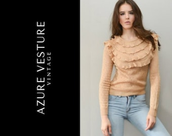 92d4125d298fe SALE 1970s Sweater. 1970s Knit Sweater