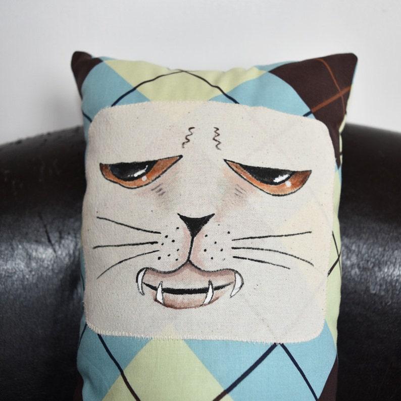 Grumpy Trevor the Cuddle Cat Pillow Toy