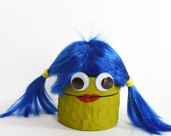 Blue and green girl monster trinket box