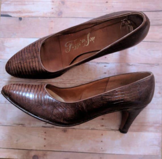 Vintage 1950's Snakeskin Heels