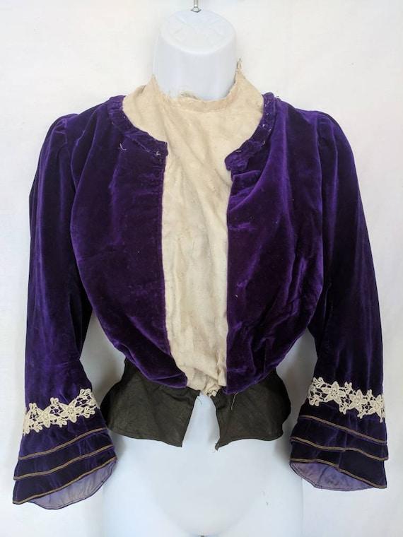Rare Antique 1890's Shirtwaist / Bodice - image 2