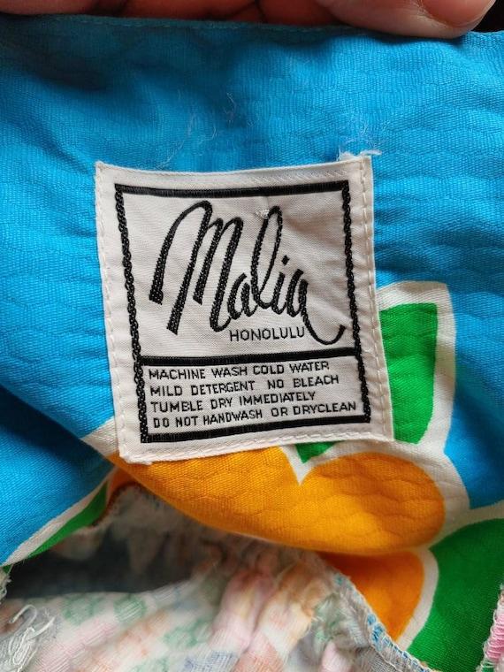 """Vintage 1960s / 1970s Blue """" Malia Honolulu """" Haw… - image 6"""