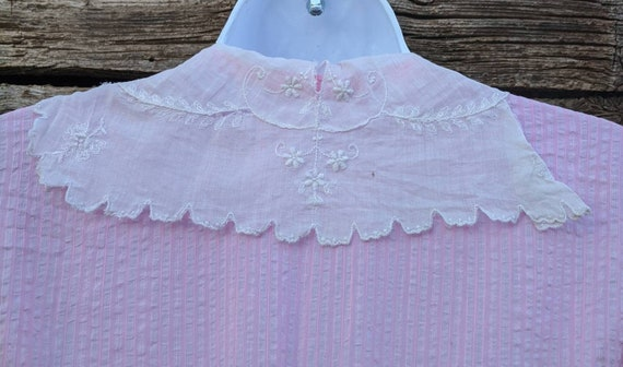 Rare Antique 1910's Pink Cotton Day Dress - image 7