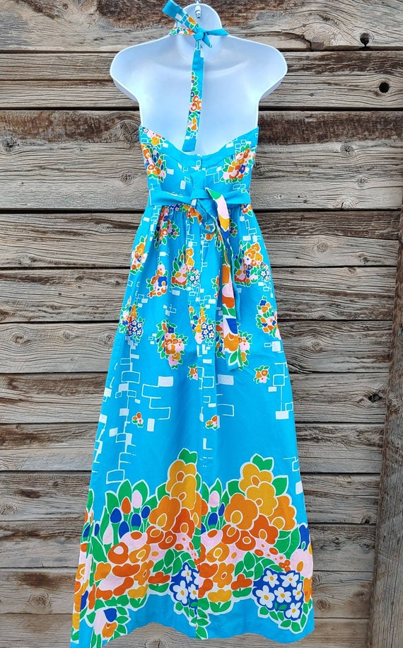 """Vintage 1960s / 1970s Blue """" Malia Honolulu """" Haw… - image 4"""
