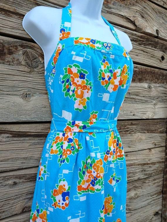 """Vintage 1960s / 1970s Blue """" Malia Honolulu """" Hawa"""