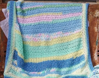 Multicolored Striped Baby Girl Blanket