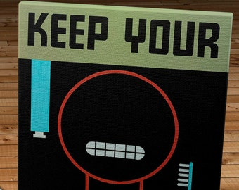 Vintage WPA Poster - Keep Your Teeth Clean - Canvas Gallery Wrap   #WP013